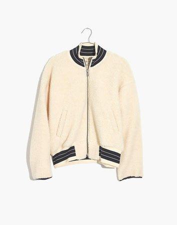 Sherpa Varsity Bomber Jacket