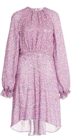 Luisa Beccaria Floral Georgette Dress