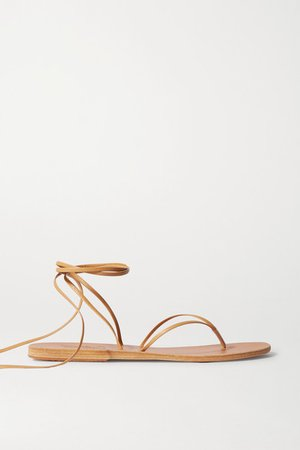 Celia Leather Sandals - Neutral