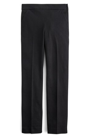 J.Crew Remi Stretch Cotton Pants | black