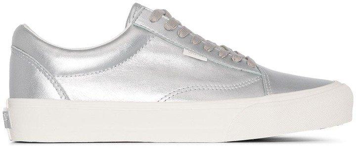 Silver Old Skool Leather Sneakers