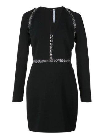 Alexanderwang Long Sleeve Mini Dress Black   The Webster