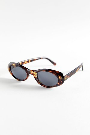Scarlette Slim Oval Sunglasses   Urban Outfitters