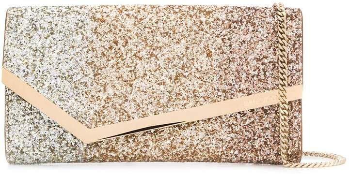 Emmie glitter-embellished clutch bag