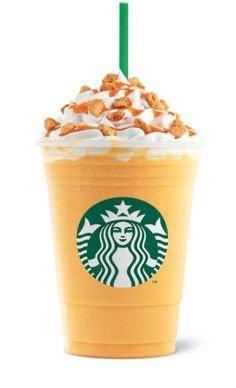 orange starbucks drink pinterest