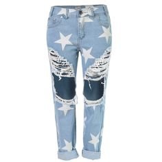 Star Ripped Jeans