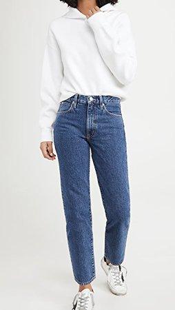 SLVRLAKE Sophie Mid Rise Straight Leg Jeans | SHOPBOP