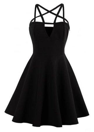 Gothic Pentagram Mini Dress