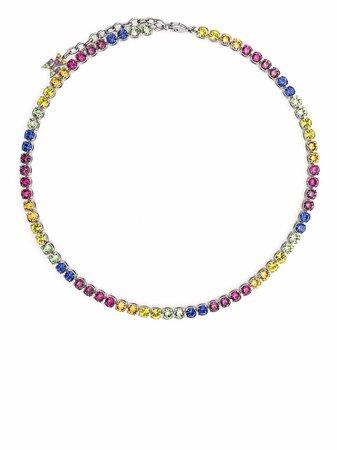 Amina Muaddi Tennis Rainbow Necklace - Farfetch