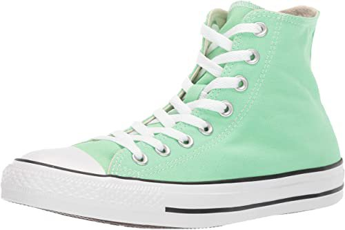 Amazon.com | Converse Women's Unisex Chuck Taylor All Star Seasonal 2019 High Top Sneaker, Lt Aphid Green, 6 | Fashion Sneakers