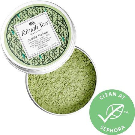 RitualiTea Matcha Madness Revitalizing Powder Face Mask with Matcha & Green Tea