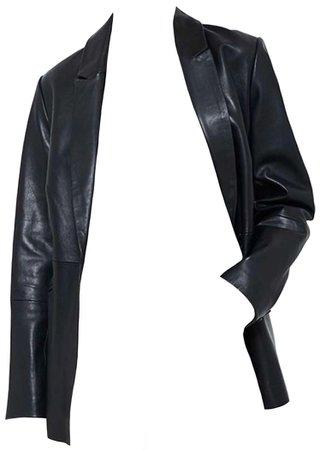 MINT VELVET Black Leather Blazer