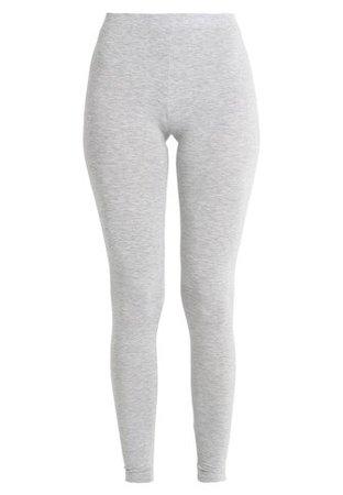 Noa Noa BASIC - Leggings - Trousers - grey melange - Zalando.co.uk