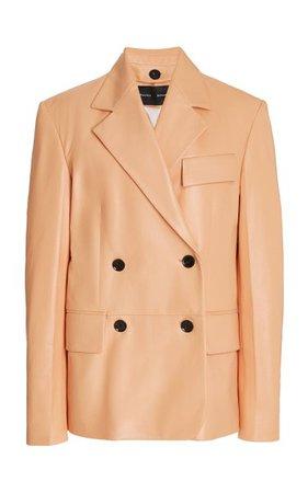 Double-Breasted Leather Blazer By Proenza Schouler | Moda Operandi