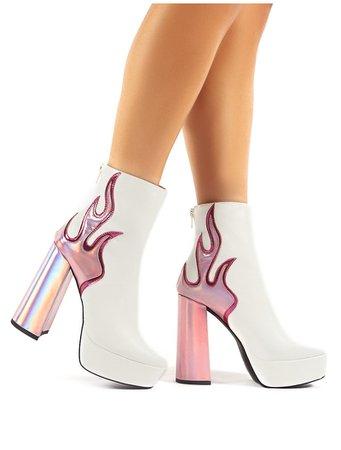 Wite Flame Boots Public Desire