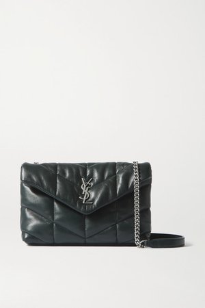 Loulou Toy Quilted Leather Shoulder Bag - Dark green