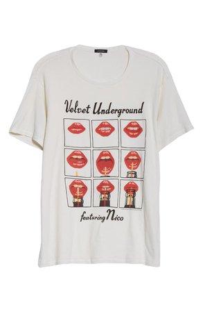 R13 Velvet Underground Oversized Graphic Tee | Nordstrom