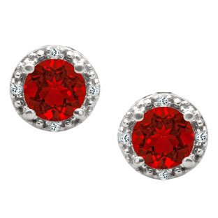 Red & Silver Earrings