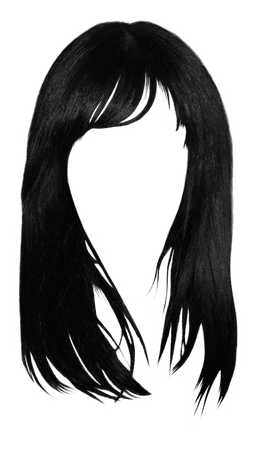 Black hair Brown hair Bangs Hairstyle - hair style png download - 500*852 - Free Transparent Black Hair png Download. - Clip Art Library
