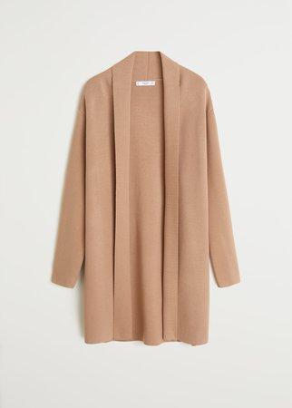 Long knit cardigan - Women | Mango United Kingdom