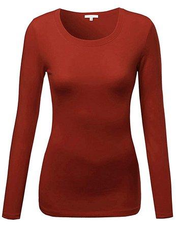 Orange Long-Sleeve Shirt