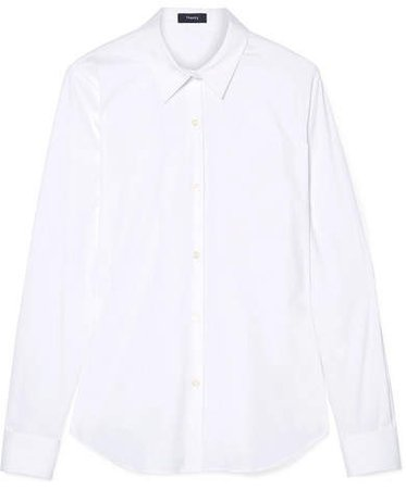 Tenia Stretch Cotton-blend Poplin Shirt - White