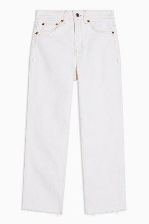PETITE White Straight Jeans | Topshop