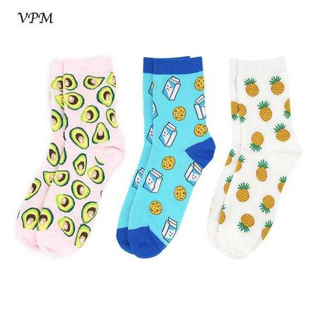 VPM-3-Pairs-Lot-Women-Short-Socks-Colorful-Fruit-Funny-Happy-Banana-Pineapple-Socks-Fashion-Gift.jpg_640x640.jpg (640×640)