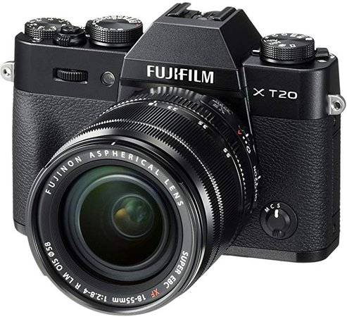 Amazon.com : Fujifilm X-T20 Mirrorless Digital Camera w/XF18-55mmF2.8-4.0 R LM OIS Lens - Black : Camera & Photo