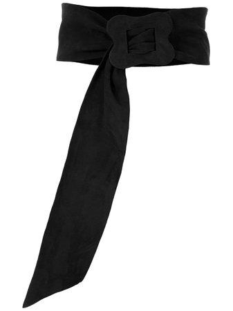 Black Sarah Chofakian Vintage Suede Belt | Farfetch.com