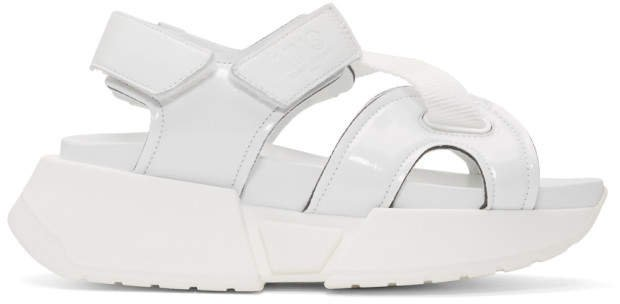 White Multi Strap Sandals
