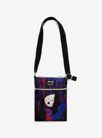 Loungefly Friday The 13th Jason Chibi Passport Crossbody Bag