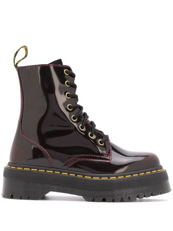 Dr. Martens Laminated lace-up Ankle Boots - Farfetch
