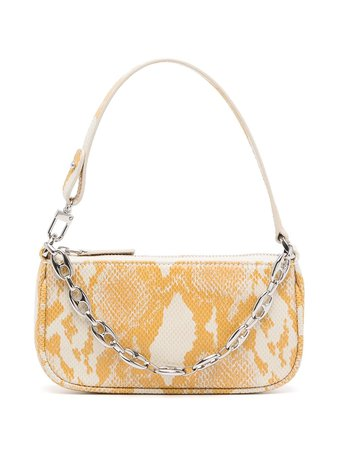Shop BY FAR mini Rachel snake-print tote bag with Express Delivery - FARFETCH