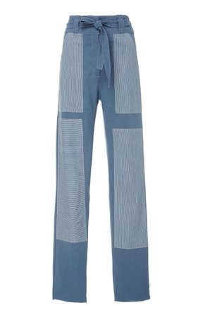 Alix of Bohemia Patchwork Chore Paneled Pants