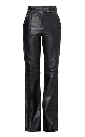 Rivka Leather Straight-Leg Pants by Stand Studio | Moda Operandi