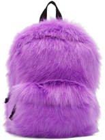 purple furry bag fluffy backpack