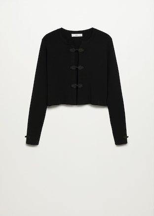 Button crop cardigan - Women | Mango USA black
