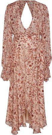 Felicity Floral-Patterned Midi Dress