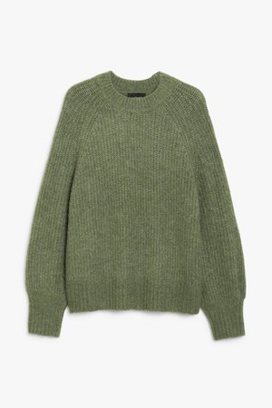 Knit sweater - Green - Jumpers - Monki