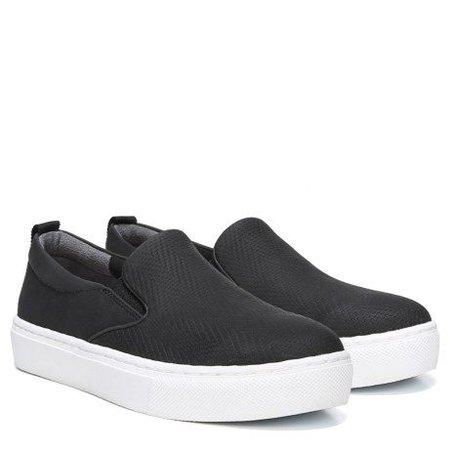 Dr. Scholl's No Bad Days Slip On Sneaker Black Embossed