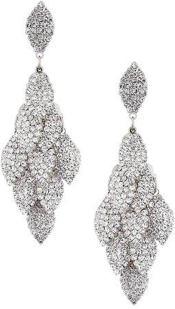 Layered Leaf Drop Earrings