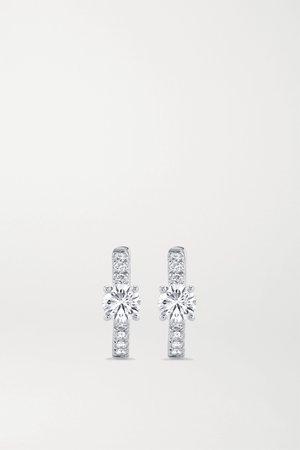 White gold Huggies 18-karat white gold diamond hoop earrings   Anita Ko   NET-A-PORTER