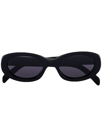 Celine Eyewear Oval Frame Sunglasses - Farfetch