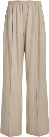 Vince Flannel Wide-Leg Pants