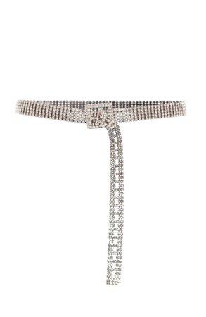Veronica beard iron crystal embellished belt