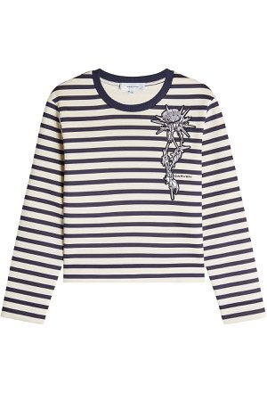 Striped Sweatshirt with Patch Gr. XS