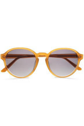 Round-frame acetate sunglasses | LINDA FARROW | Sale up to 70% off | THE OUTNET