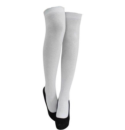 white over the knee socks with heels