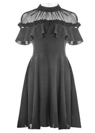 Punk Rave Gothic Black Narcissa Dress